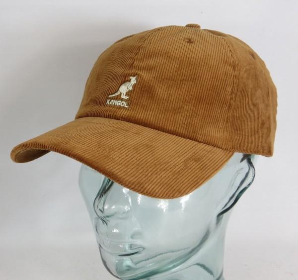 KANGOL CORD BASEBALL CAP Cotton Basecap Baumwolle Kord Kappe Mütze braun Neu