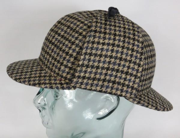 BULLANI Sherlock Holmes Mütze Deerstalker Jagdmütze Made in Germany Neu