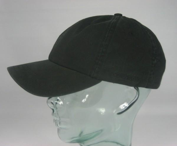 STETSON RECTOR Baseball Cap Basecap Kappe Mütze schwarz Baumwolle Sun Guard NEU