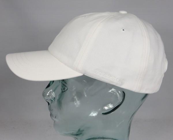 STETSON RECTOR Baseball Cap Basecap Kappe Mütze weiß Baumwolle Sun Guard NEU