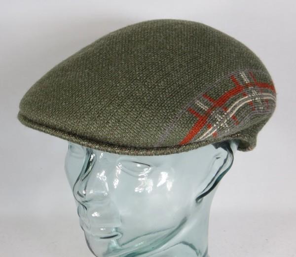 KANGOL PLAID STRIPE 504 Flatcap Ivy Cap grün Wintermütze Golfcap Mütze NEU
