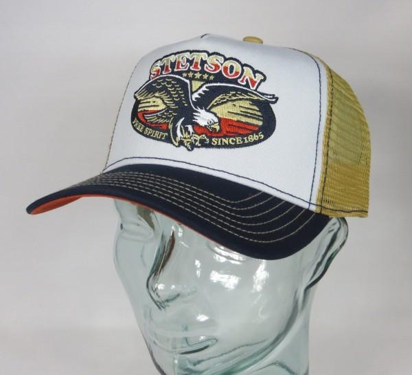 STETSON Trucker Cap Mesh Netz Kappe BASECAP SNAPBACK 7751177 Free Spirit NEU