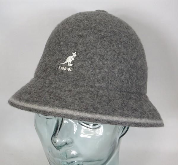 KANGOL STRIPE CASUAL Hut Bucket Hat Bobby grau Mütze NEU